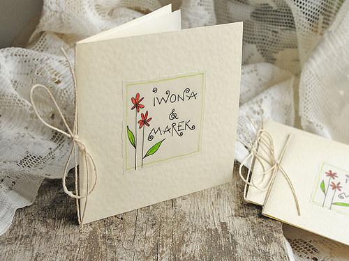 svadobné oznámenia LITTLE FLOWERS