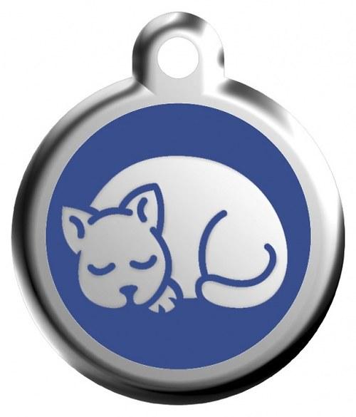 Kočičí známka modrá kočička 20mm