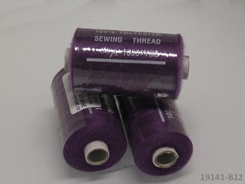 19141-B12 Nitě polyesterové 40/2 1000y TM.FIALOVÉ