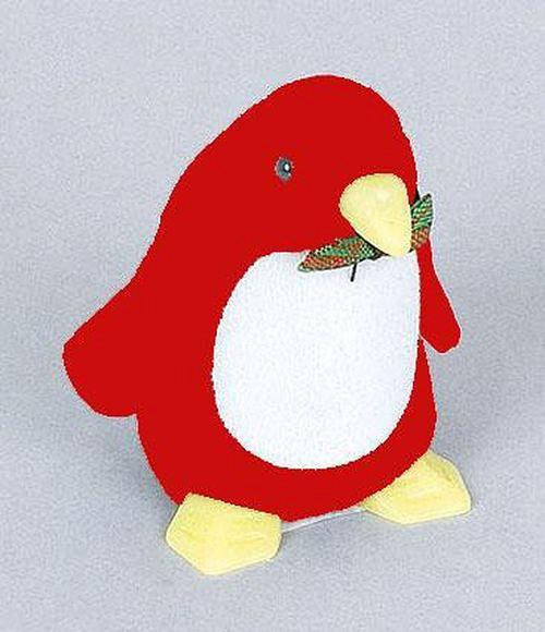 Sametová krabička na šperky - červený papoušek