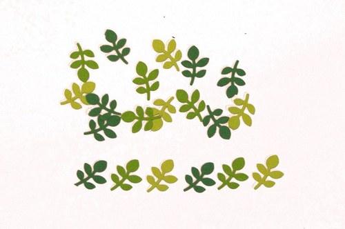 Zelené větvičky mini - 20 ks