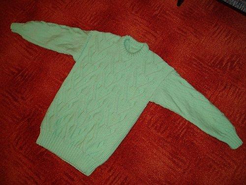 Dívčí pletený svetr