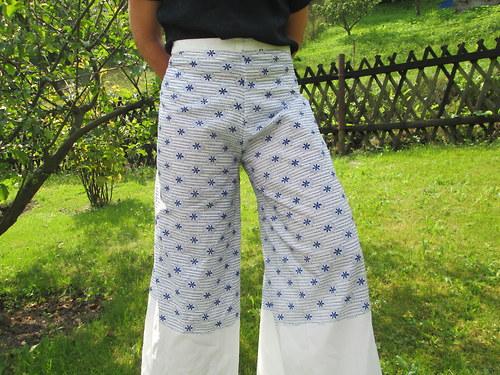 kalhoty,léto,zavinovací kalhoty,univerzální ,