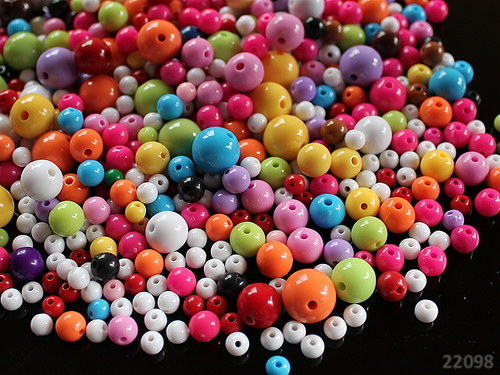 22098 Akrylové kuličky MIX, bal. 12g ± 100ks!!