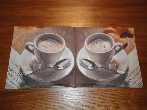 Ubrousek na decoupage - ranní káva