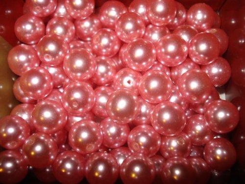 Skleněné voskové perle růžové 10mm