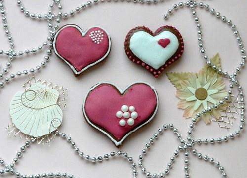 Valentinské srdíčko malé tmavě růžové