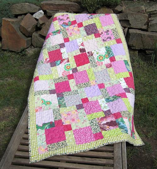 Patchworková deka malá 132 x 86