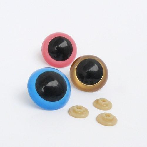 Bezpečnostní oči -  zlatá, 20 mm