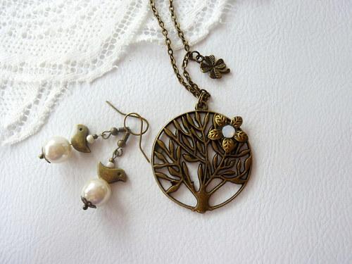 Řetízek - Strom života + náušnice