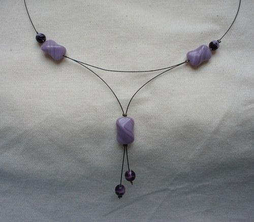 Fialové náhrdelník - SLEVA!!!