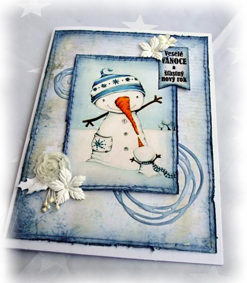 Vánoční přání sněhuláčkové