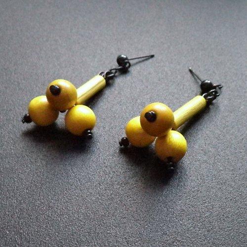 naušky žluté