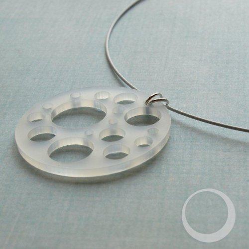 Ledové kroužky - náhrdelník