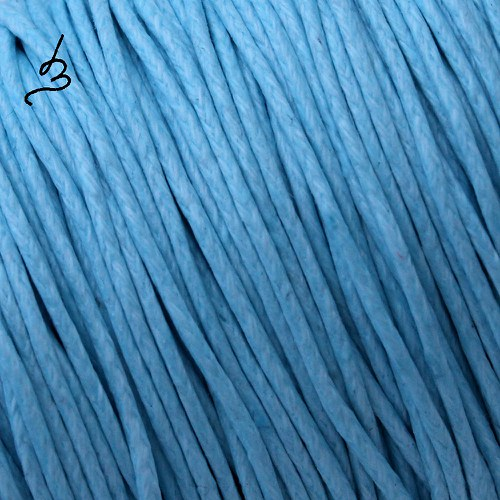 Bavlněná šňůrka 1 mm modrá SV