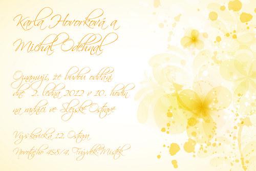Svatební oznámení vzor 25