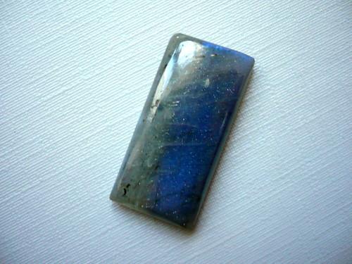Kabošon - labradorit modrý 27 mm, č.287