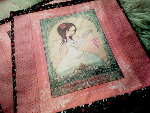 Povlak na polštářek- romantická dívka