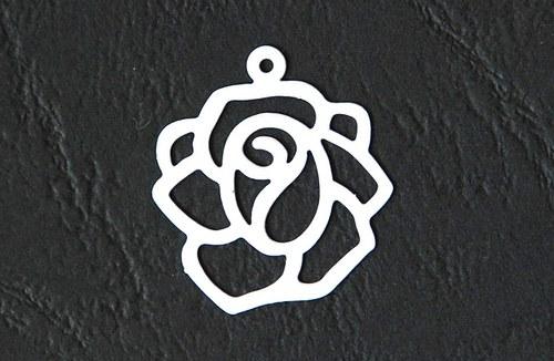 Růže bílá 18x20mm