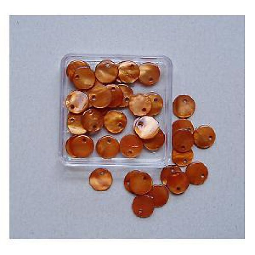 Perleť kolečka 10mm 40ks-hnědé