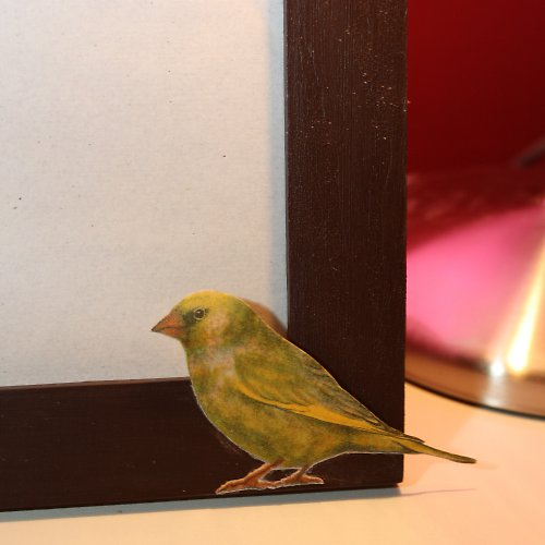 Rámeček se zelenými ptáčky