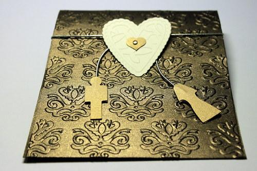 Svadobné oznámenie - perleťové čokoládové
