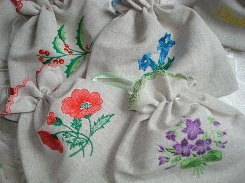 Pytlíčky na bylinky s obrázky