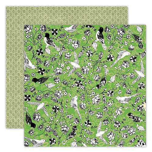 Strukturovaný papír Green Bird - Artsy Urban