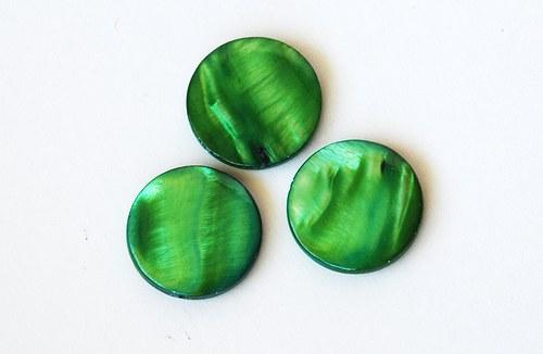 perleťové kolečko 20mm- zelené