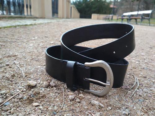 Pánský pásek černý