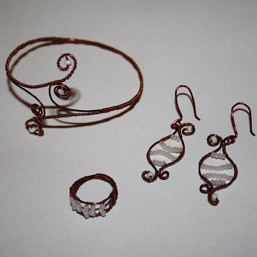 Drátkovaná sada šperků