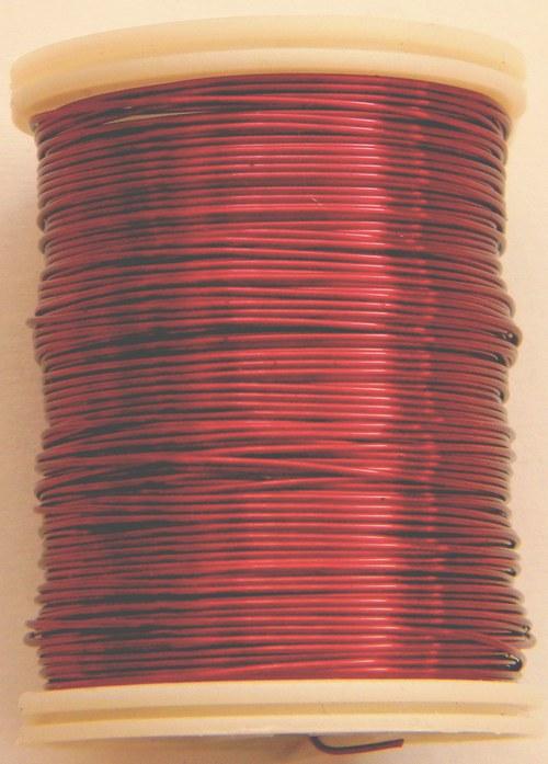 Měděný lakovaný drát 0,8 mm tmavo-červený