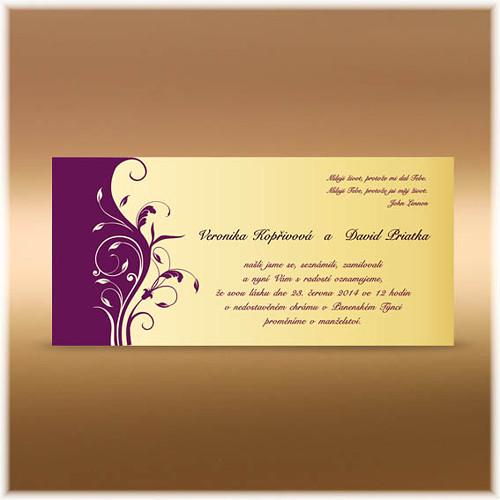 Ornamentální svatební oznámení