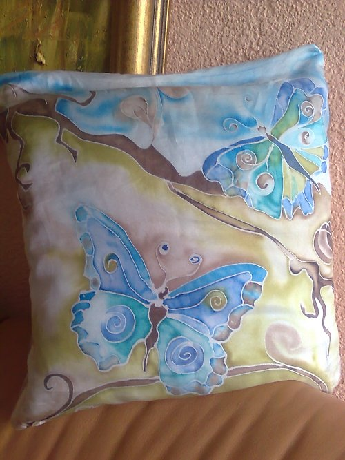 povlak na polštář motýl
