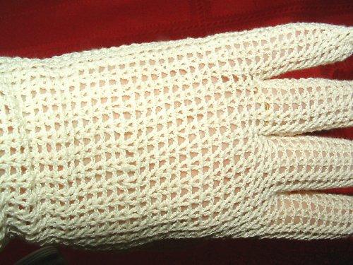 Společenské dámské rukavičky - háčkované