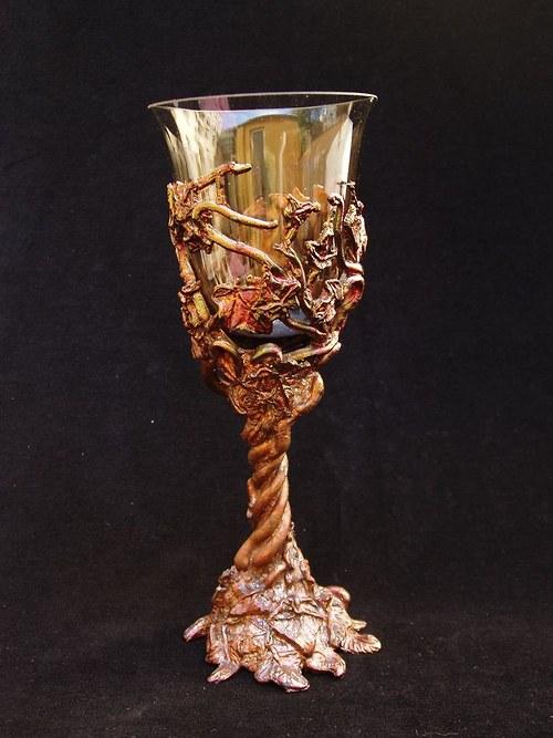 sklenice na víno - břečťan