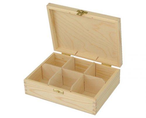 Krabička na čaj 6 přihr. DL40