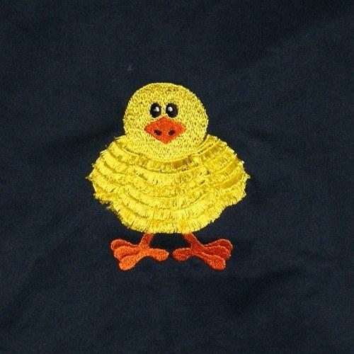 Dětské tričko s kuřátkem střapatým