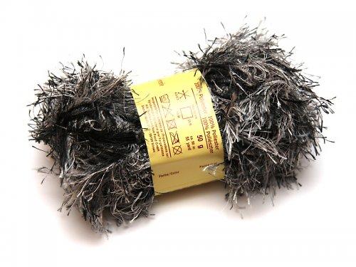 Pletací příze - 50 g - do černa