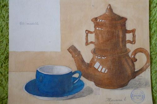Grafika ranní káva