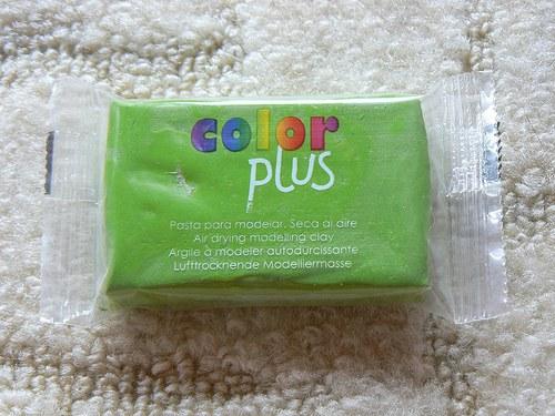 Samoschnoucí hmota Color Plus sv.zelená 75g