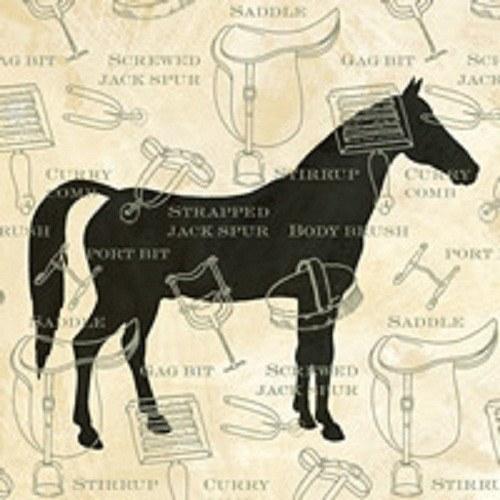 """ubrousek, motiv \""""Kůň\"""", krémová"""