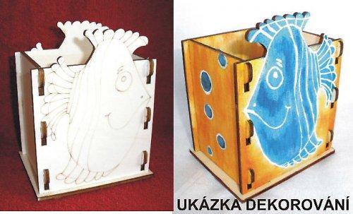 Krabička - stojánek na tužky RYBA - 10,5x v.13,5x9