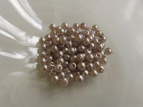 Vosková perla - platinová 3 mm / 30 ks