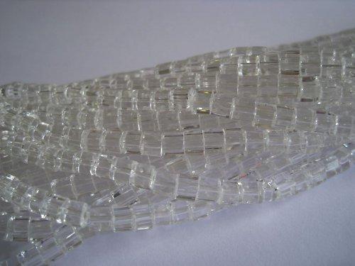 Skleněná kostička čirá, 4 mm, 50 ks / 14,-- Kč