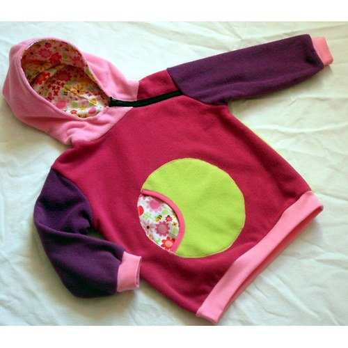 PINK&CRAZY...  - fleecová mikina