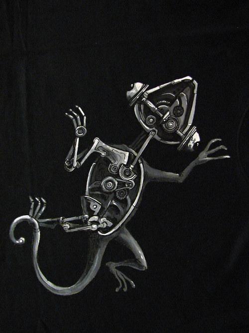 mechanická ještěrka