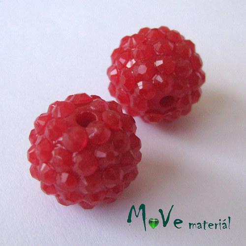 Pryskyřičný korálek - kulička 16mm,1ks, červená