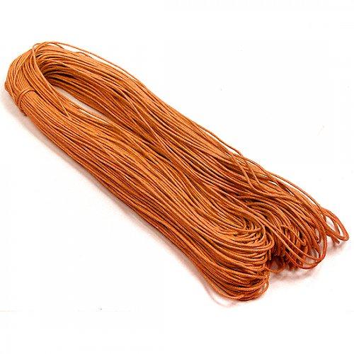 Povoskovaná šňůra oranžová - 10 m