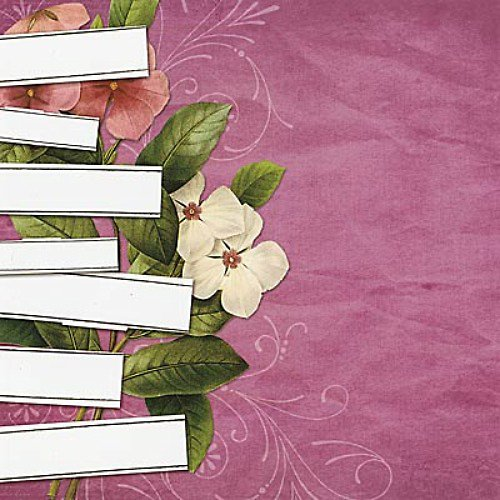 Vintage Collage čtvrtka na scrapbooking